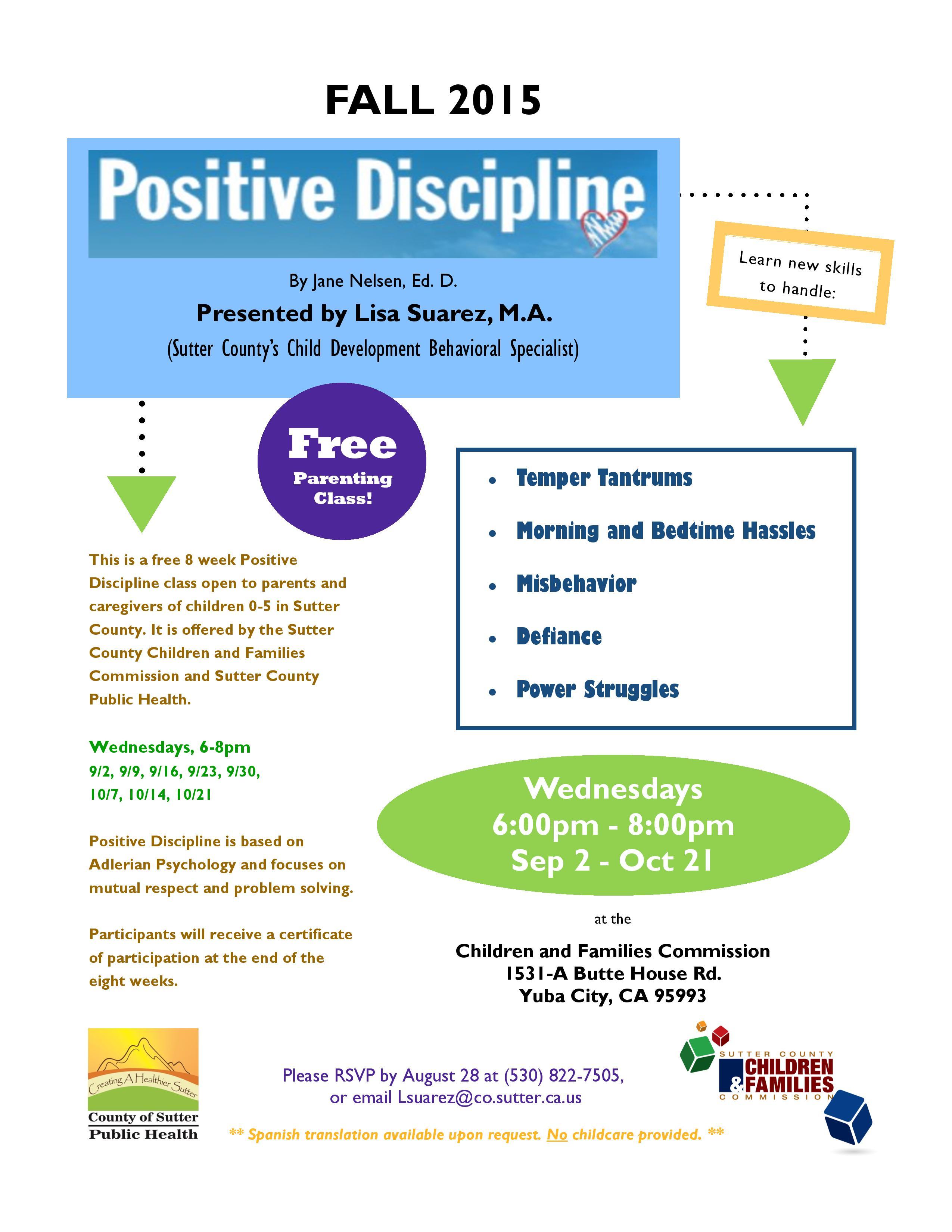 Positive Discipline Fall 2015