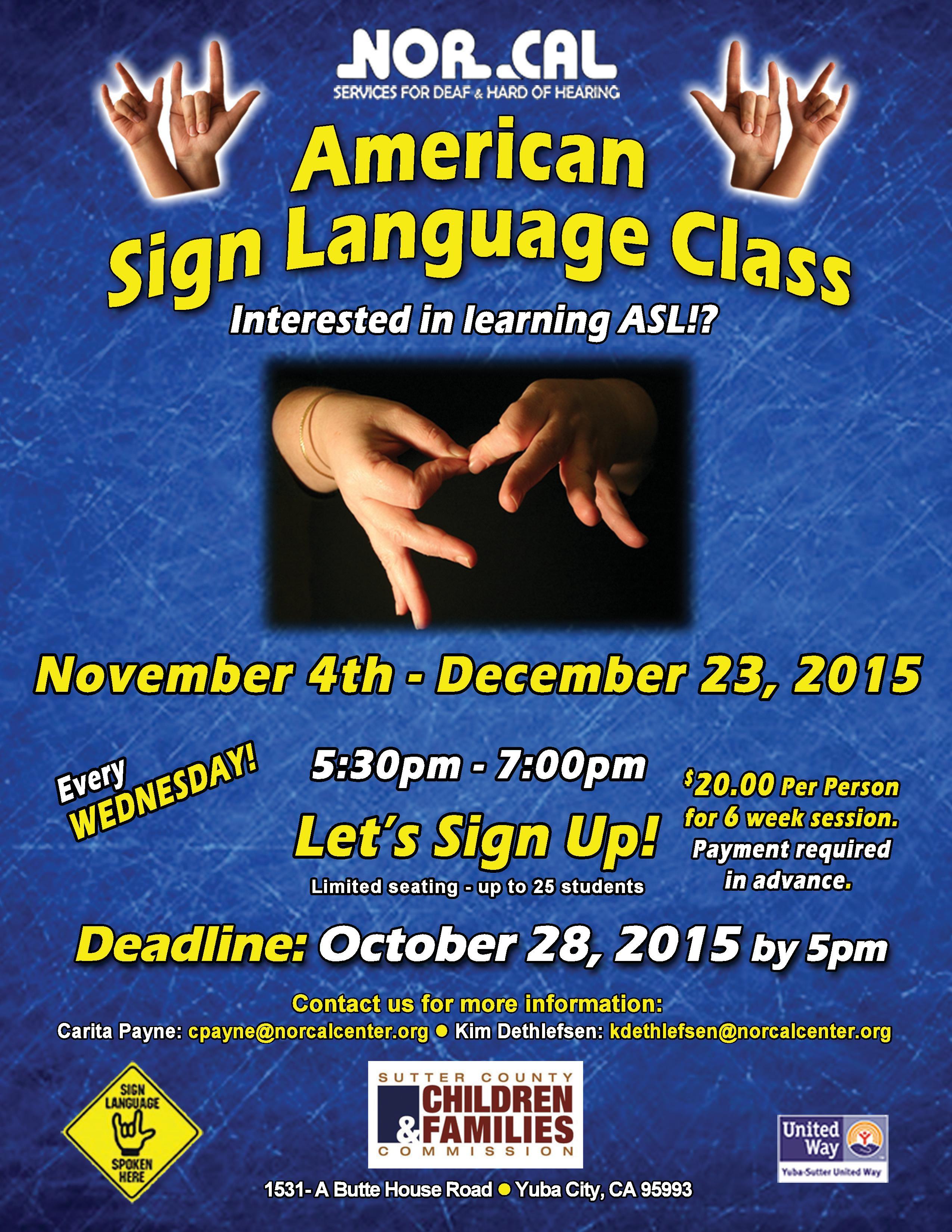 ASL class 2015-winter