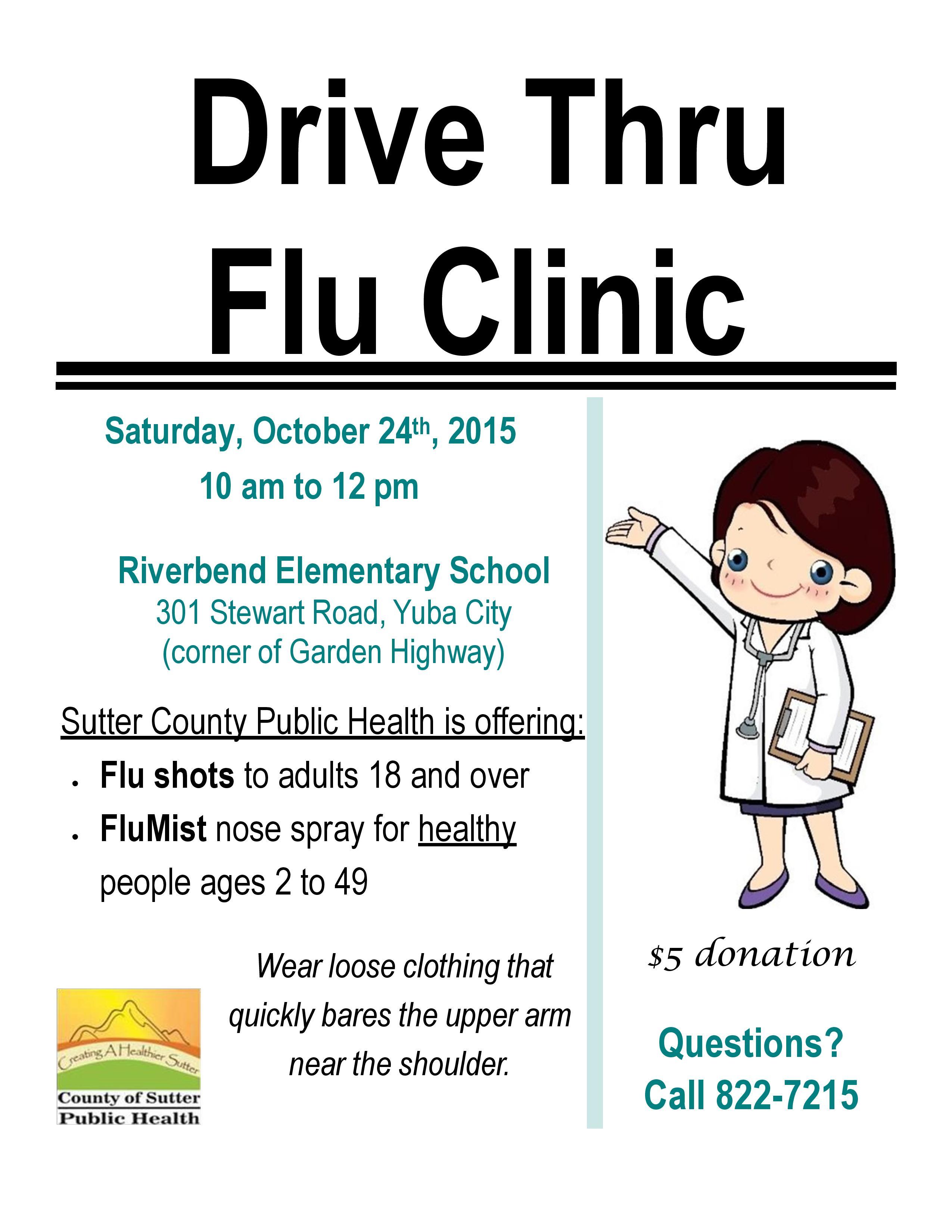 flu clinic poster English_2015