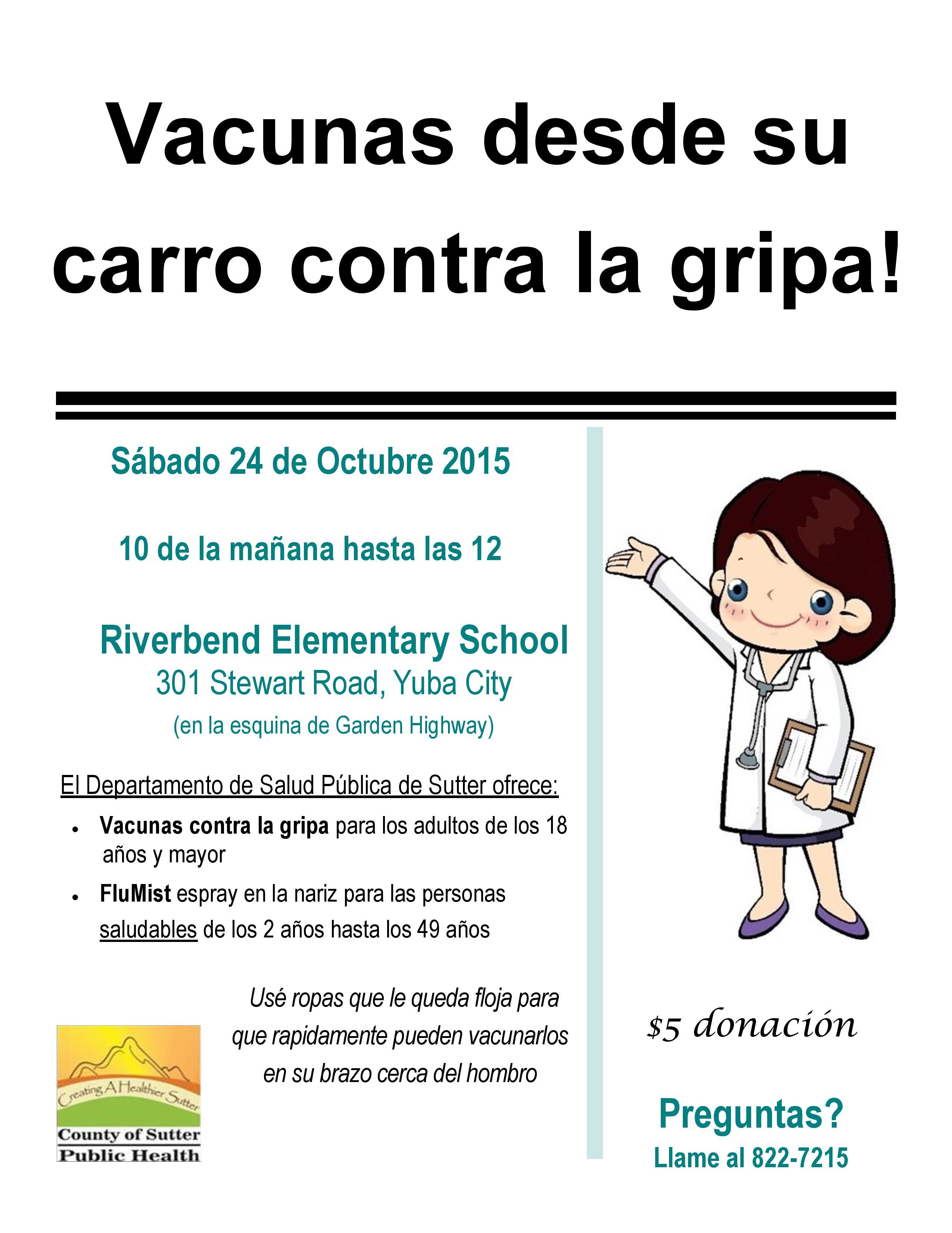 flu clinic poster Spanish_2015