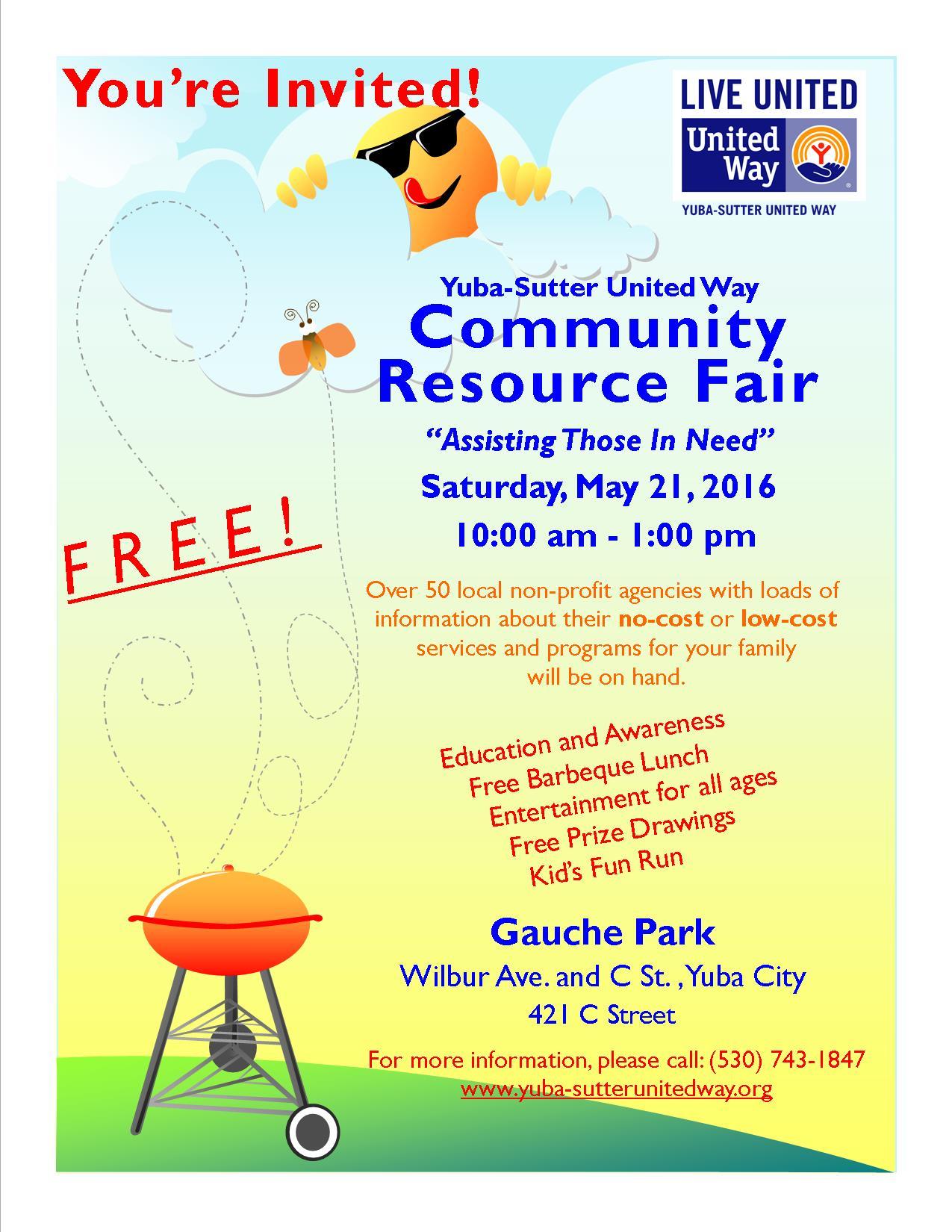 Community Resource Fair Flyer 2016