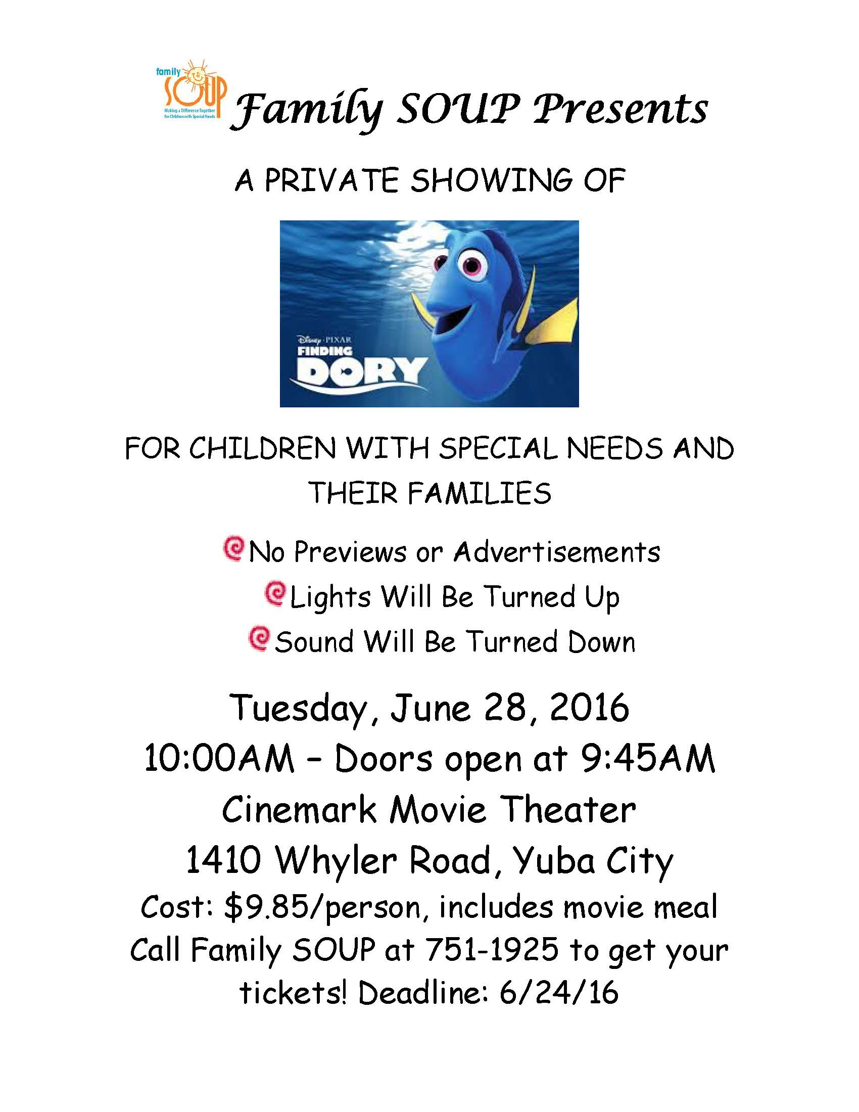 PRIVATE SHOWING OF Finding Dory
