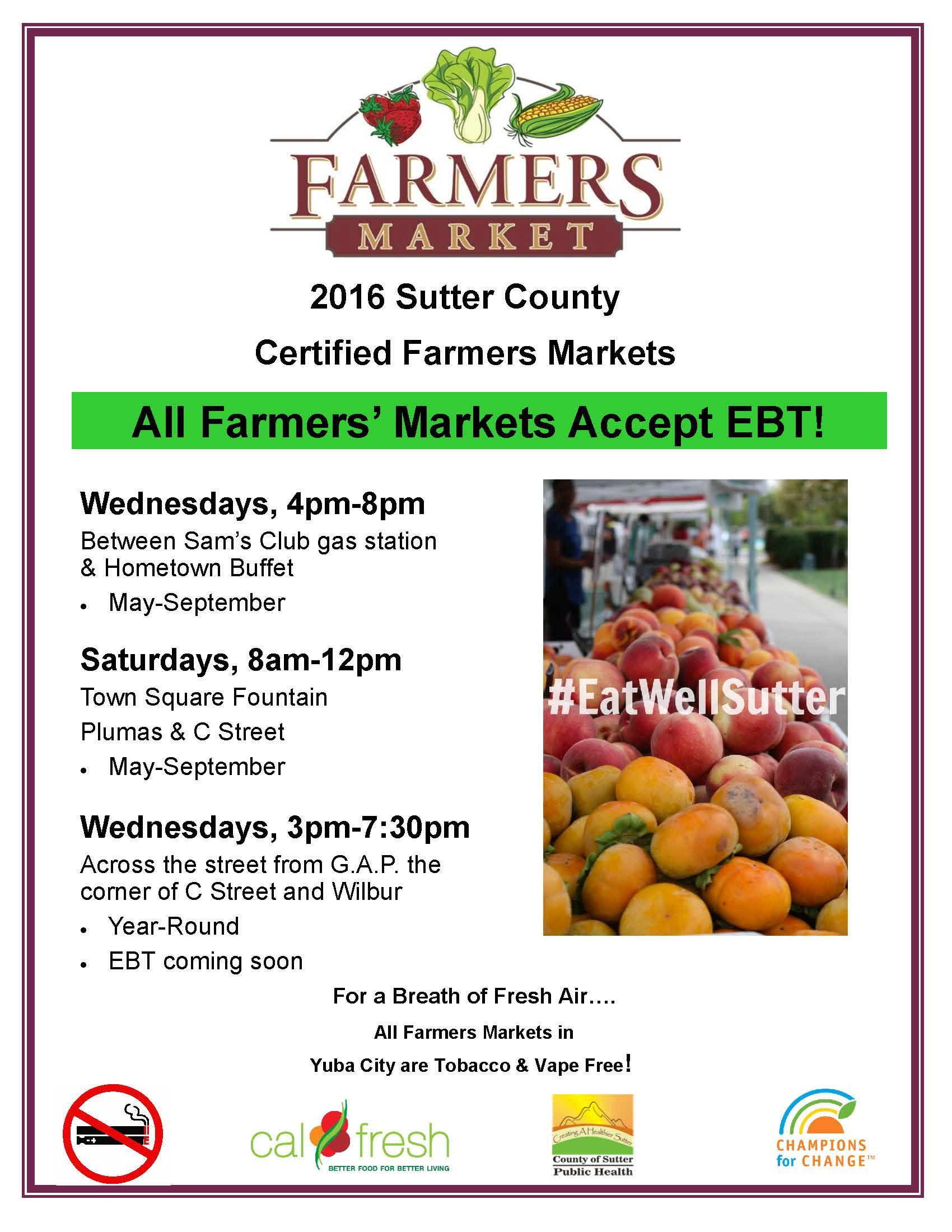 2016 Farmers Market Flyer
