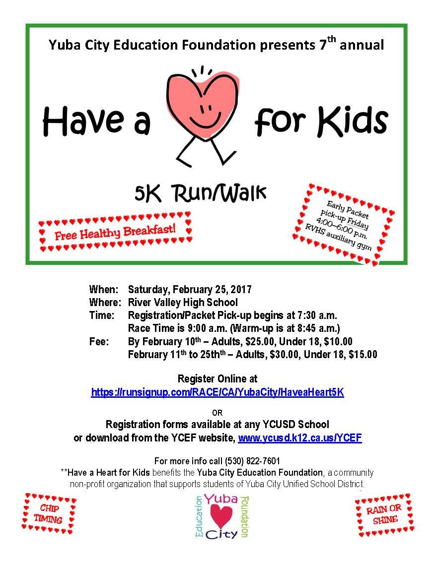 Have A Heart For Kids 5k Runwalk Sutter County Children