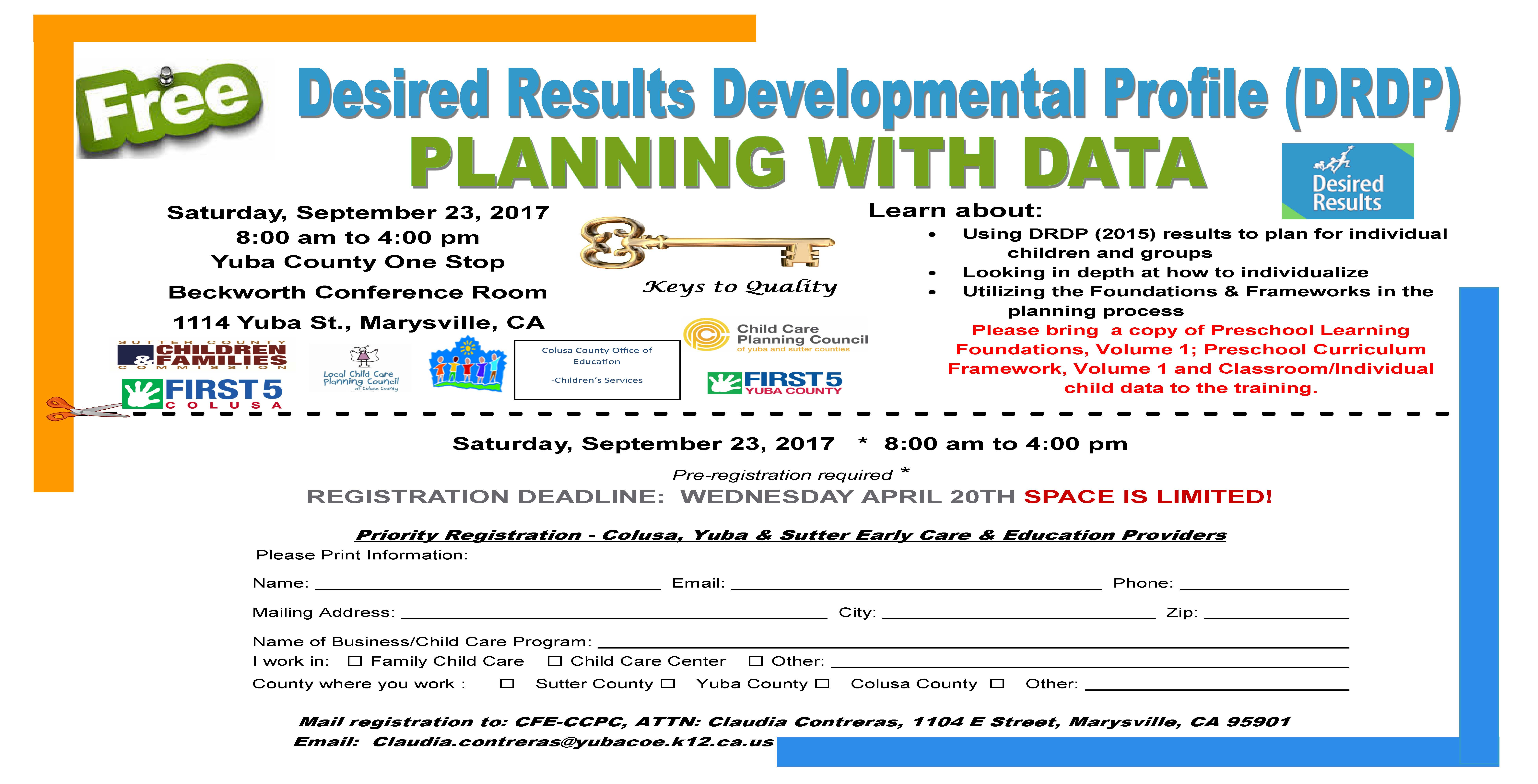 Desired Results Development Profile Drdp Planning With Data