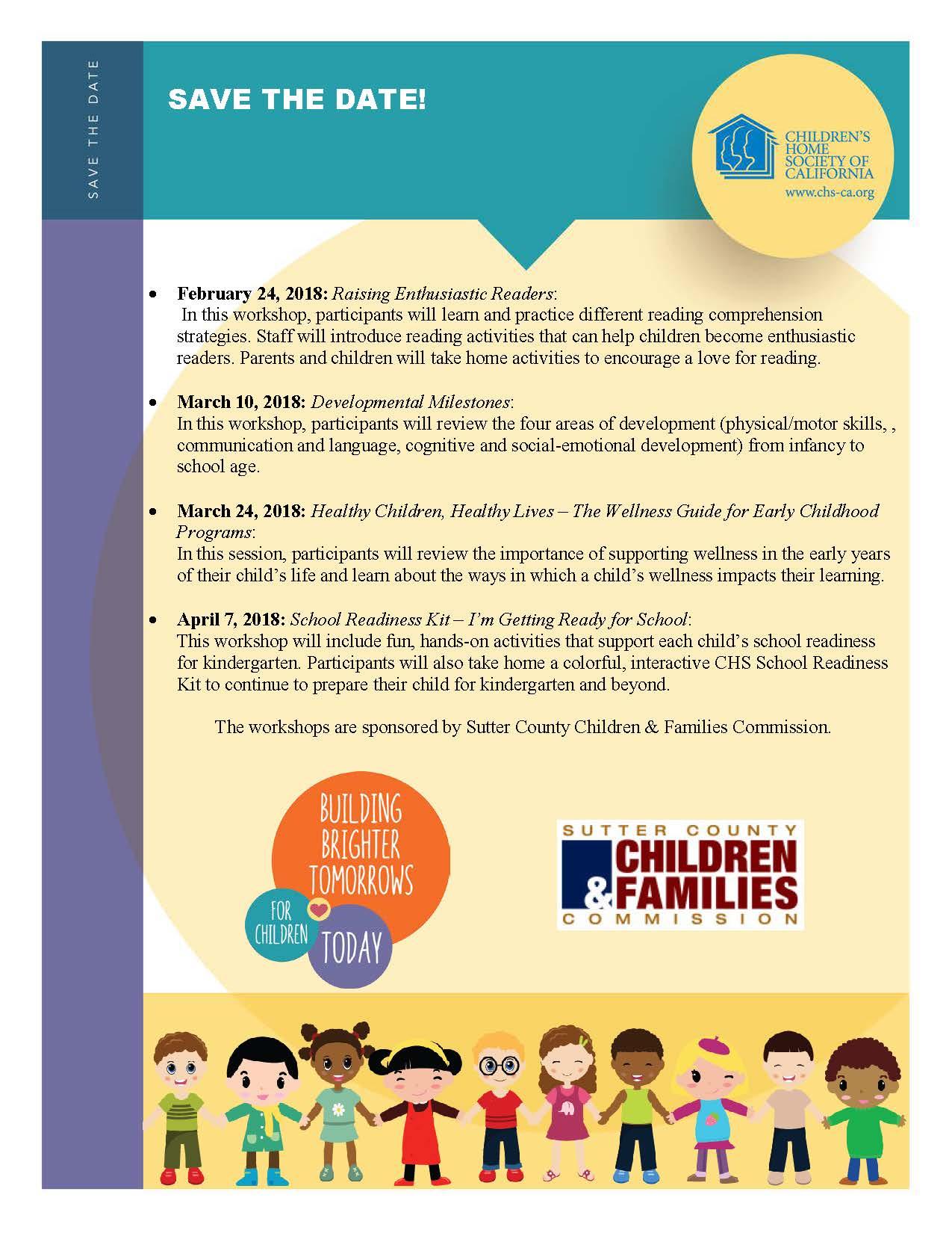 Parents Of Children With Developmental >> Child Development Workshops For Parents Sutter County
